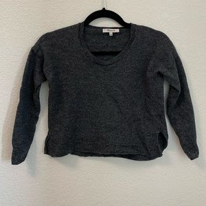 Madewell   100% Wool Cropped Sweater